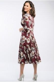 Платье Teffi Style 1217 бордо фото 3