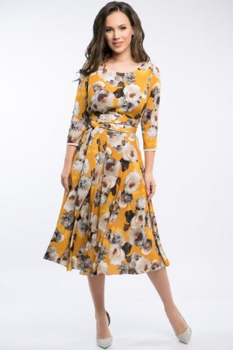 Платье Teffi Style 1217 куркума