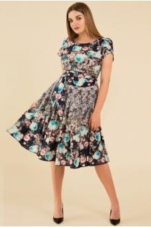 Teffi Style 721 -3 бирюзовые цветы2
