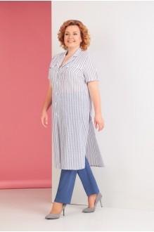 Ksenia Stylе 1530 синяя полоска/синие брюки