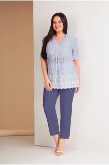 Ksenia Stylе 1540 синяя полоска/синие брюки
