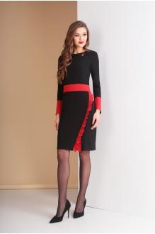 Ksenia Stylе 1585 черный+красная отделка