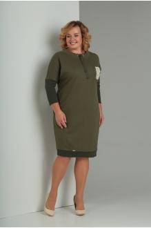 Платье Diomant 1346 олива фото 1