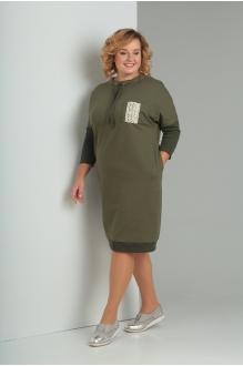 Платье Diomant 1346 олива фото 2